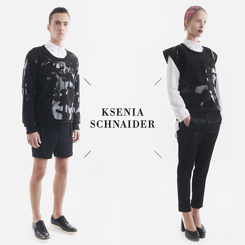 Ksenia Schnaider - Camouflage 2013 SS collection