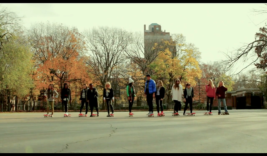 10 pretty and powerful NYC girls learn how to skate