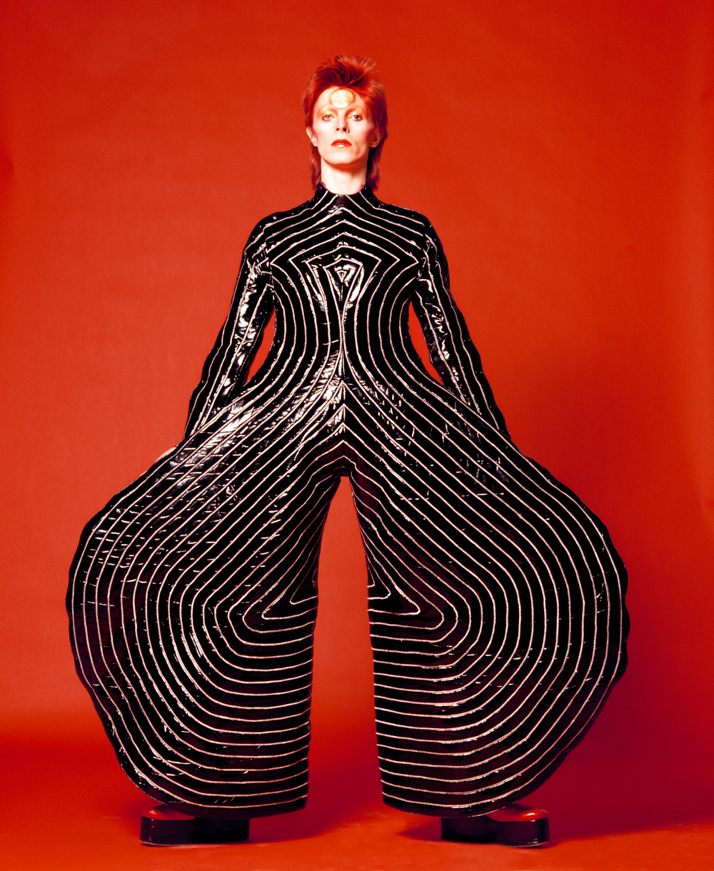 David Bowie Striped bodysuit for Aladdin Sane tour 1973