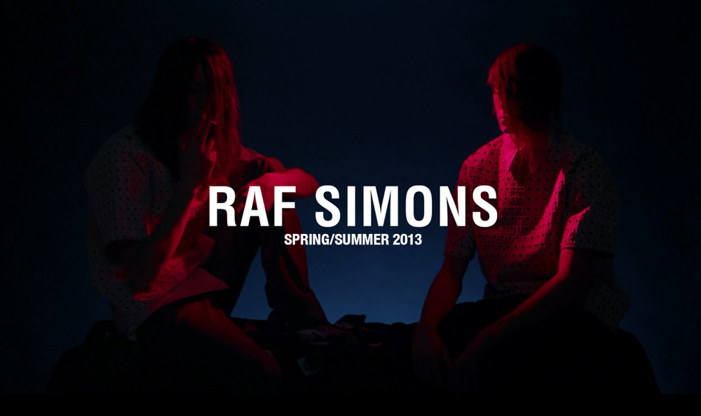 Raf Simons 2013 Spring Summer