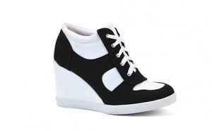 Monochrome Concealed Wedge Hi Tops
