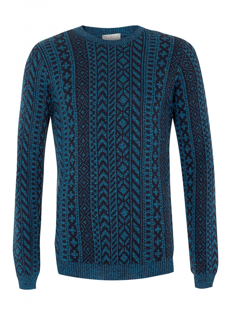 Teal Vertical Pattern Jumper