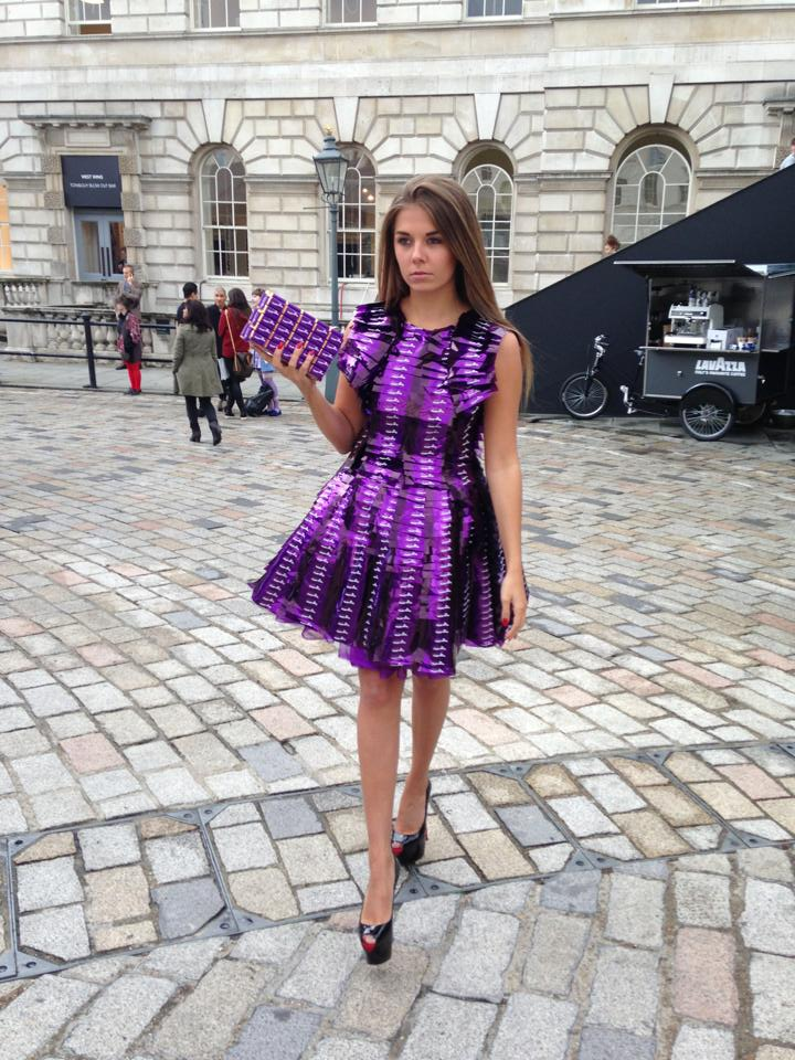 Cadbury Dress by WHY SO SERIOUS - LFW 2014 © CHASSEUR MAGAZINE