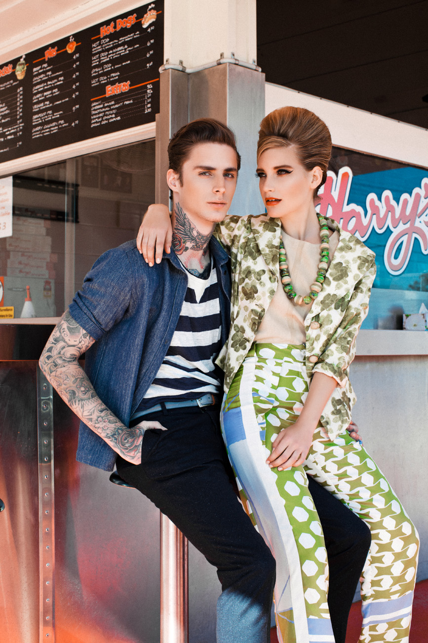 AMERICAN DINER by Claire Wallman for CHASSEUR MAGAZINE