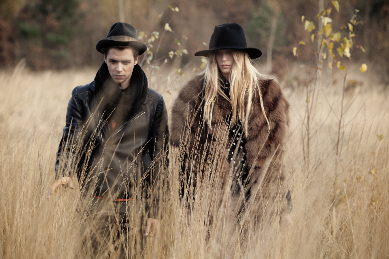 Marla Fabri and Nicolas Lagiere by John Hennequin for CHASSEUR MAGAZINE