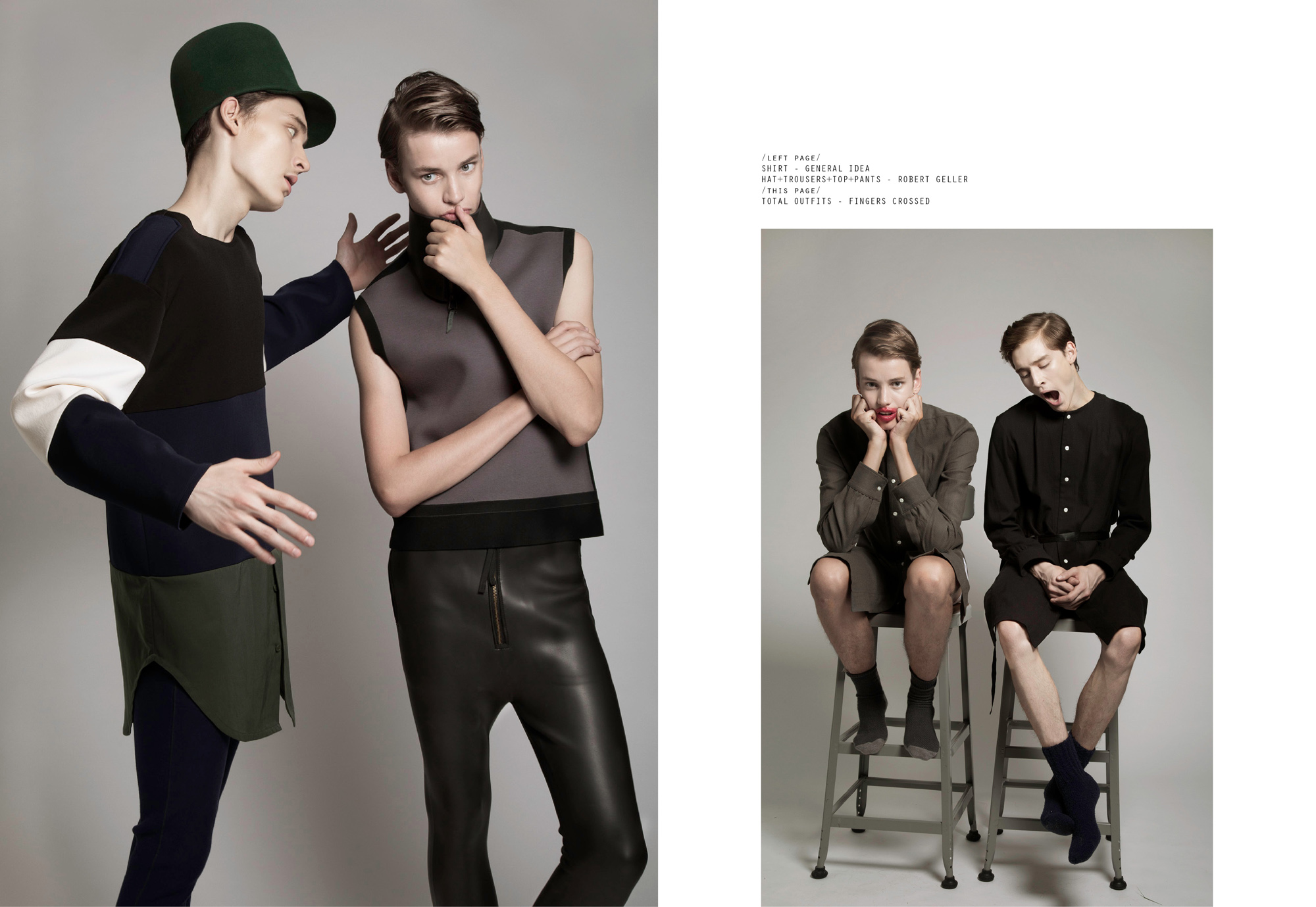 Niclas Nilsson and Noah Duran by Wish Thanasarakhan for CHASSEUR MAGAZINE issue #9
