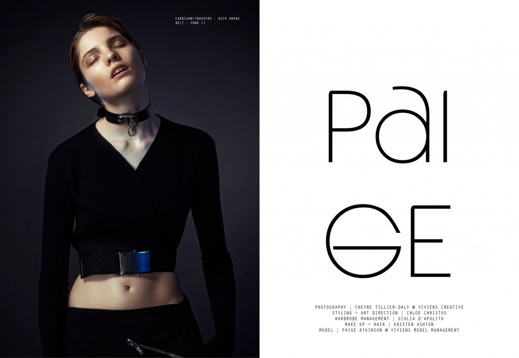 Paige Atkinson by Cheyne Tillier-Daly for CHASSEUR Magazine issue #9