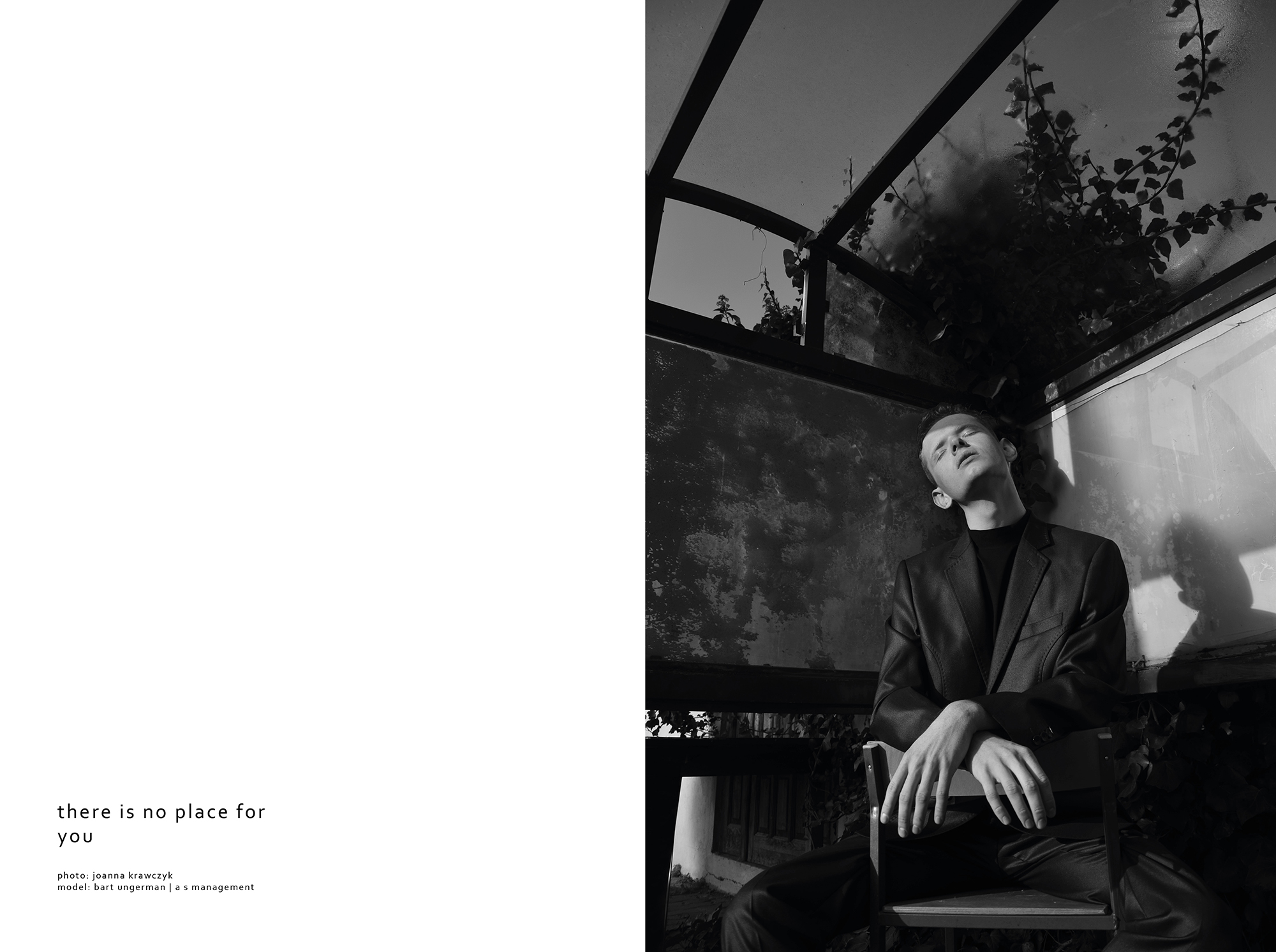 There Is No Place For You by Joanna Krawczyk for CHASSEUR MAGAZINE