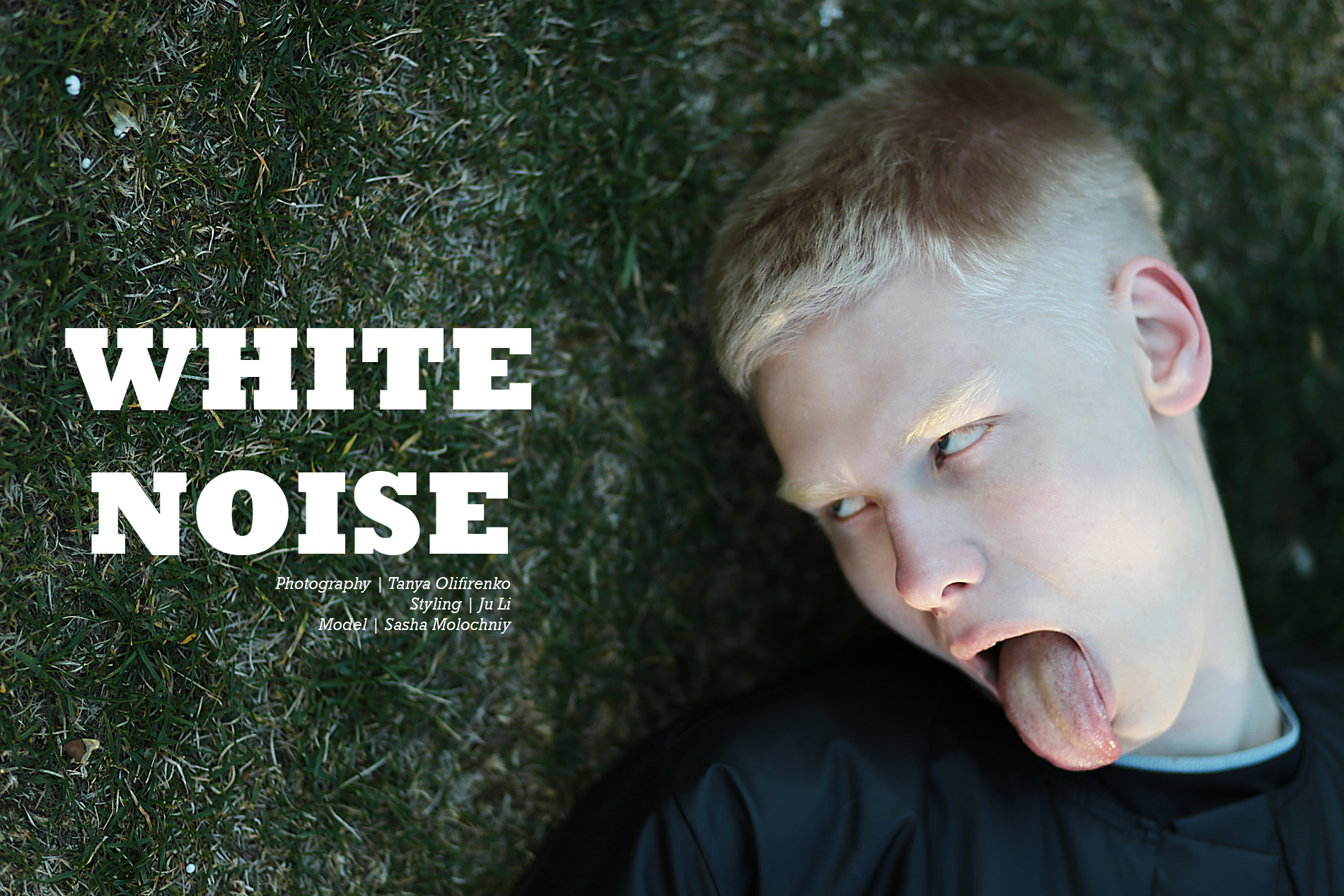 WHITE NOISE - Sasha Molochniy by Tanya Olifirenko for CHASSEUR MAGAZINE