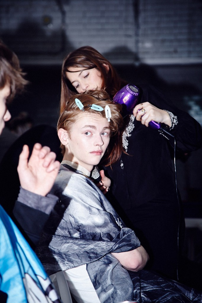 KIT NEALE 2015 Autumn Winter Backstage © CHASSEUR MAGAZINE