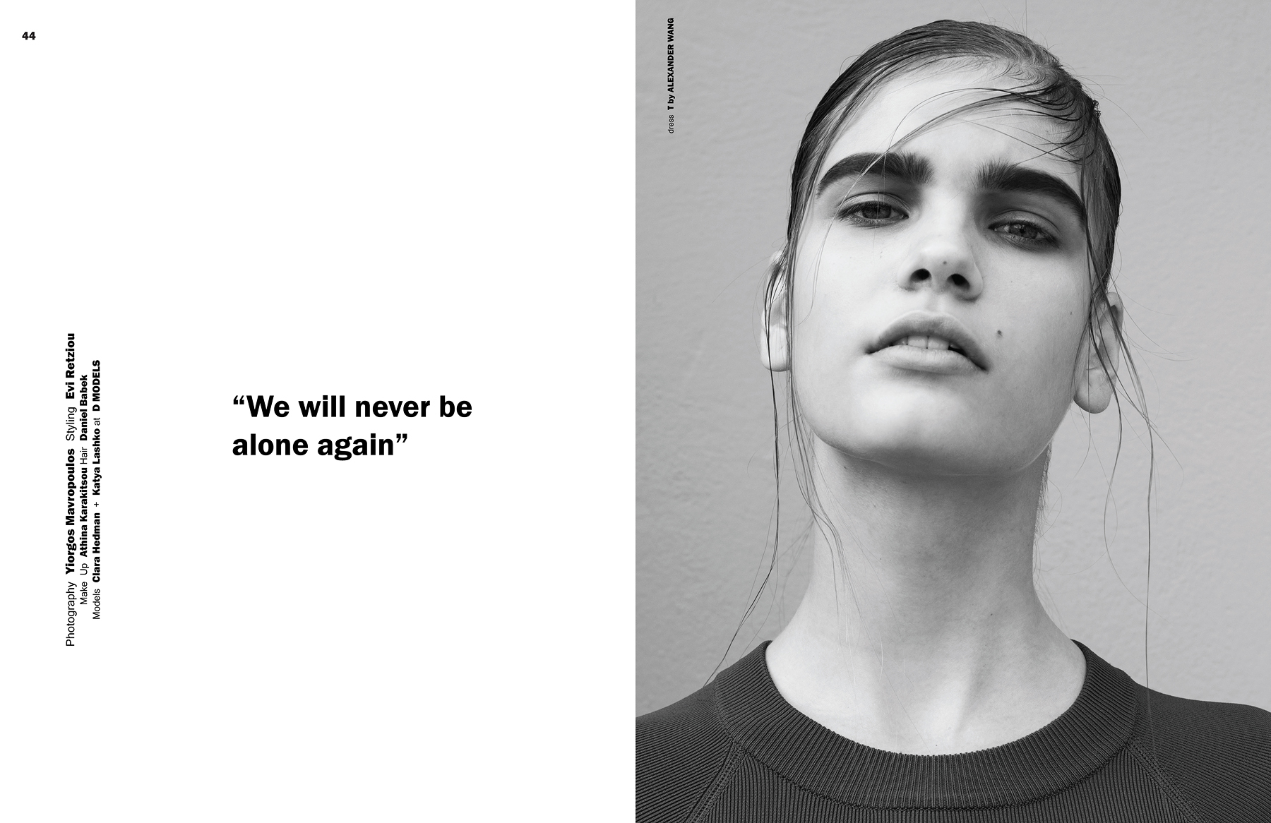 We Will Never Be Alone Again by Yiorgos Mavropoulos for CHASSEUR MAGAZINE issue #11 - YOURS WAS THE BODY